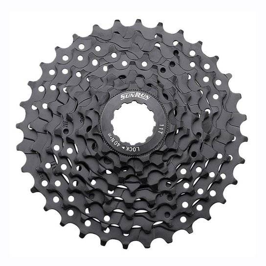 Cassete Bike Sunrun k-8 11/32d cor preto - Preto