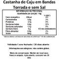 Castanha de Caju em Bandas e sem Sal Viva Salute Embalada a Vácuo - 500 g