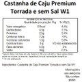 Castanha de Caju Premium sem Sal e Torrada W1 Viva Salute Embalada a Vácuo - 500 g