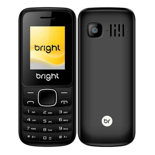 Celular Barra Dual Chip com Câmera Mp3 e Bluetooth Preto 405 Bright - Preto