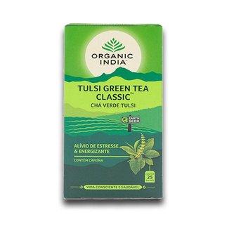 Chá Tulsi Chá Verde Green Tea 25 saches  Organic India