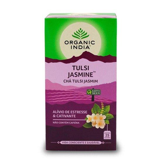 Chá Tulsi com Jasmim 25 saches Organic India -