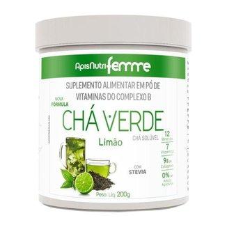 Chá Verde Solúvel Limão Apisnutri 200g