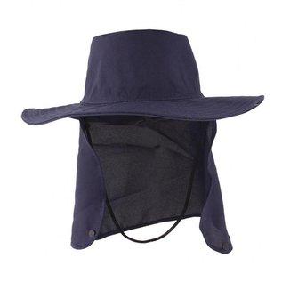 Chapéu Australiano Com Proteção De Pescoço Azul Marinho