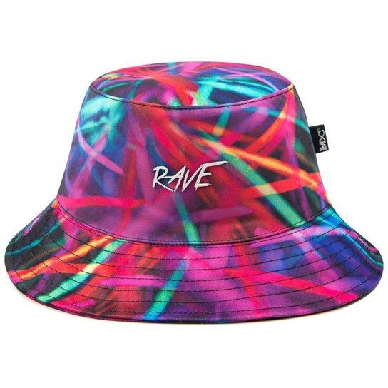 Chapéu Bucket Hat MXC BRASIL Estampado Rave Rolê Psicodélico - Preto