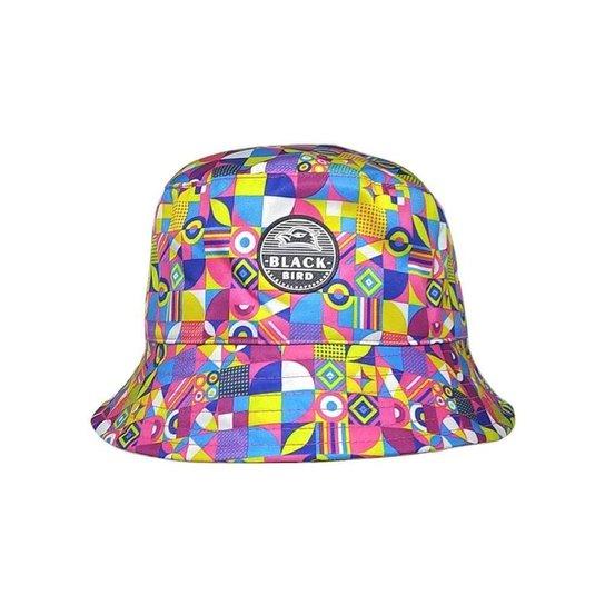 Chapéu Bucket Hats Black Bird CL Feminino - Rosa+Azul