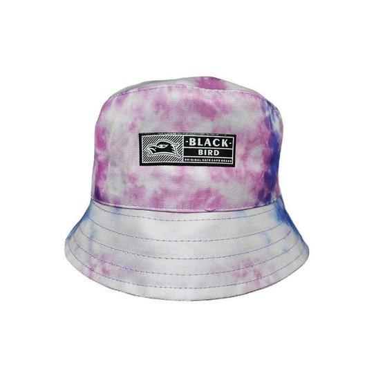 Chapéu Bucket  Hats  Black Bird Tie Dye - Branco+Rosa