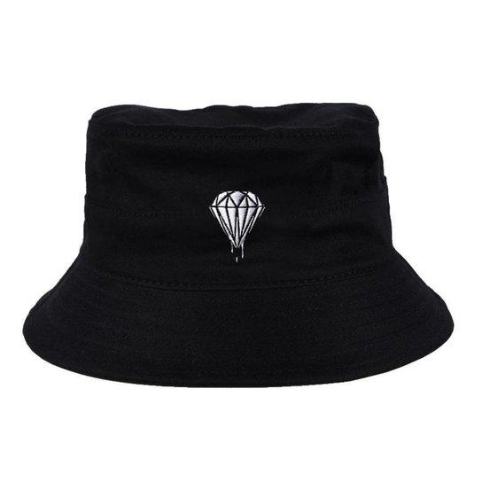 Chapéu Bucket Skull Clothing Diamond - Incolor