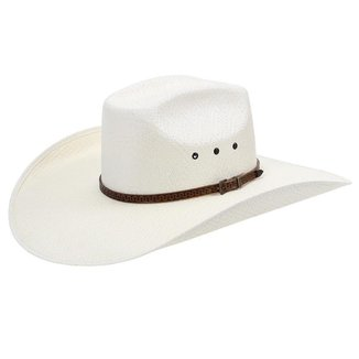 Chapéu Com Bandinha de Couro Copa Quadrada Texas