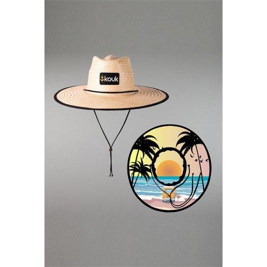 Chapéu Kouk Authentic de Palha Beach Girl - Bege