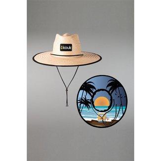 Chapéu Kouk Authentic de Palha Beach