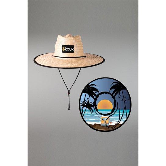 Chapéu Kouk Authentic de Palha Beach - Bege