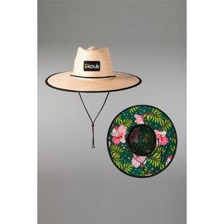 Chapéu Kouk Authentic de Palha Florido