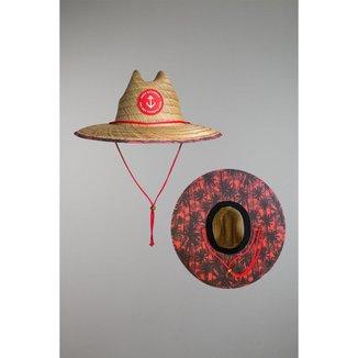 Chapéu Kouk Authentic de Palha Premium Red