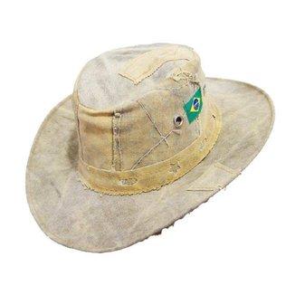 Chapéu Rústico Lona Envelhecida Camping Pesca 1 Unidade
