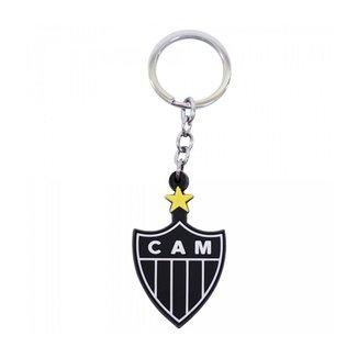 Chaveiro De Borracha Com Brasão De Time Atlético Mineiro