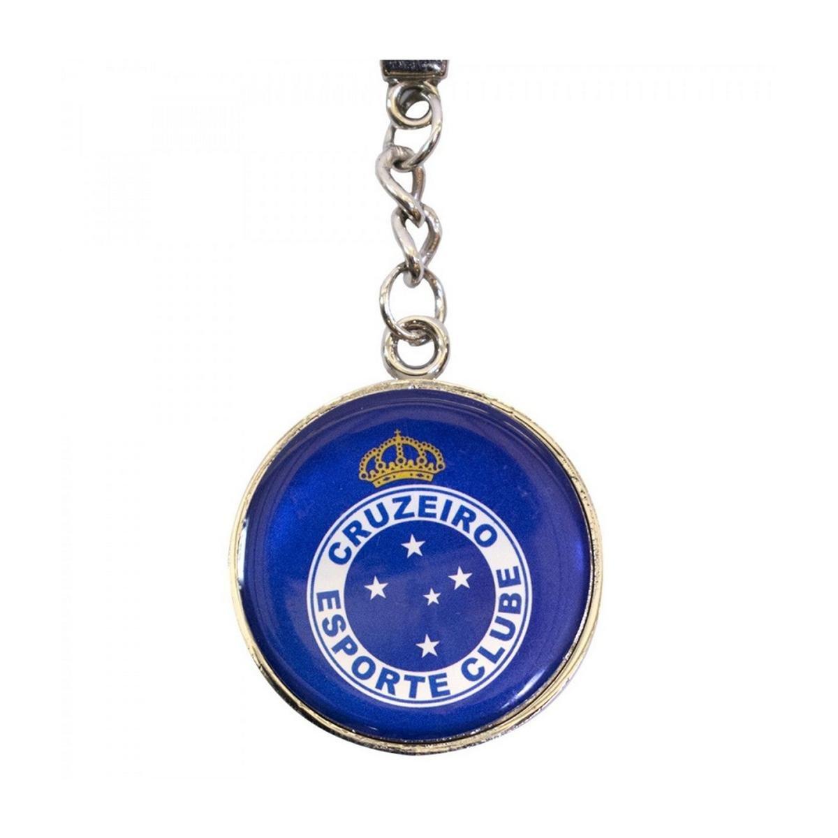 Chaveiro De Metal Com Brasão De Time Cruzeiro - Azul - Compre Agora ... dd44606cdf18e