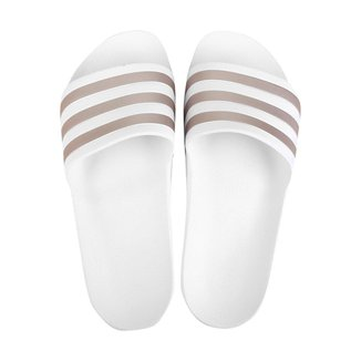 Chinelo Adidas Adilette Aqua - Branco+Dourado - 38/39