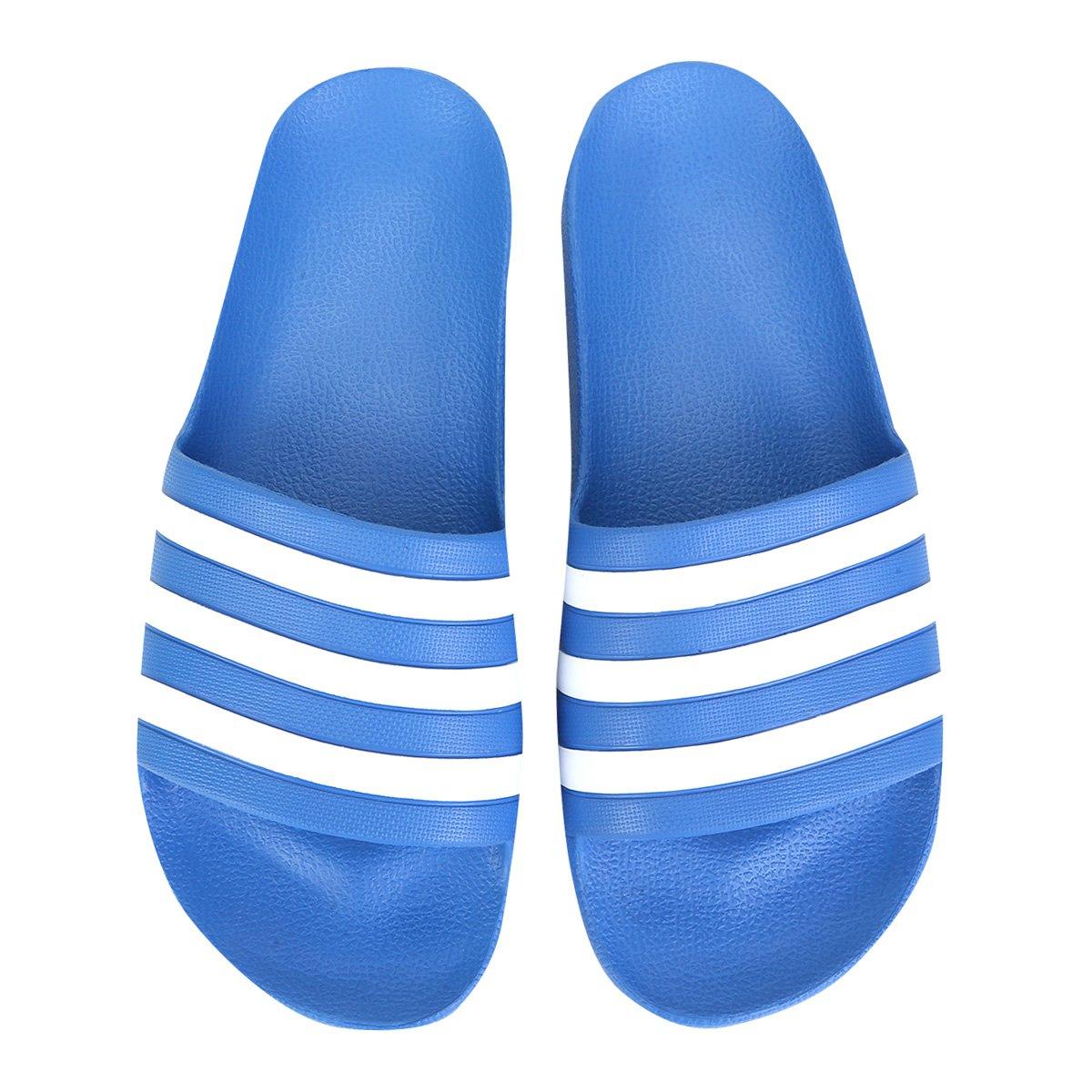 Chinelo Adidas Adilette Aqua Azul e Branco