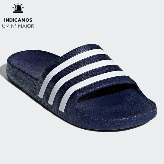 Chinelo Adidas Adilette - Marinho+Branco