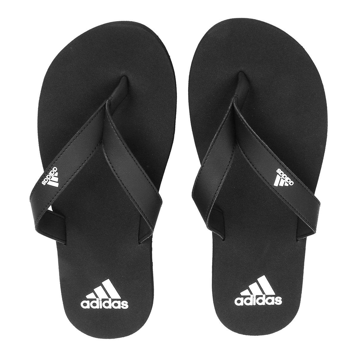 e18020290 Chinelo Adidas Eezay Essence Masculino - Preto e Branco | Netshoes