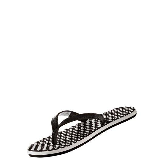 Chinelo Adidas Eezay Feminino - Preto+Branco