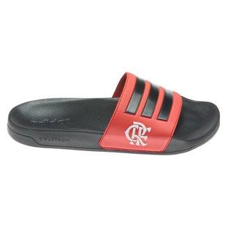 Chinelo Adidas Slide Adilette Shower Flamengo Unissex - Preto e Vermelho