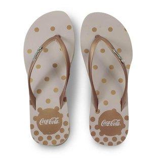 Chinelo Bolinhas Feminino de Dedo Borracha Coca Cola Nancy CC2895