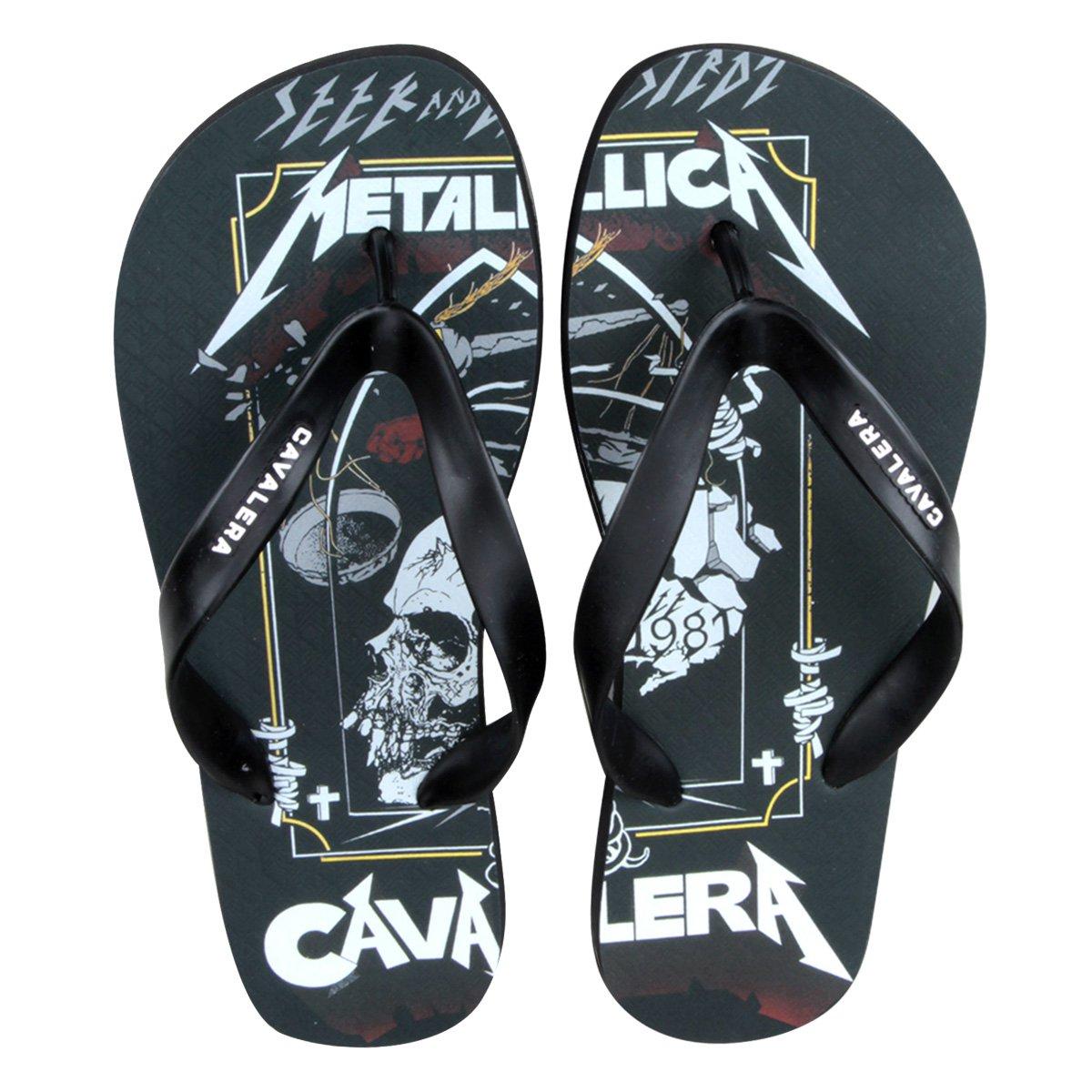 Chinelo Chinelo Preto Metallica Cavalera Preto Metallica Masculino Masculino Cavalera wI8rISqZ
