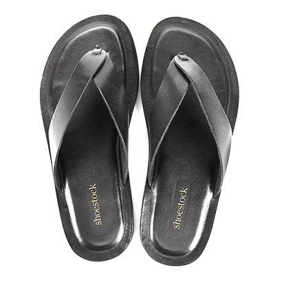 Chinelo Couro Shoestock Basico Masculino