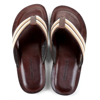Chinelo Couro Shoestock Gorgurão Masculino