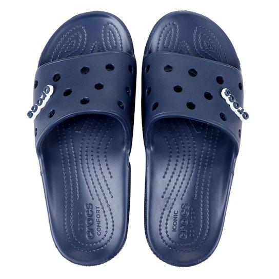 Chinelo Crocs Classic Slide - Azul Navy