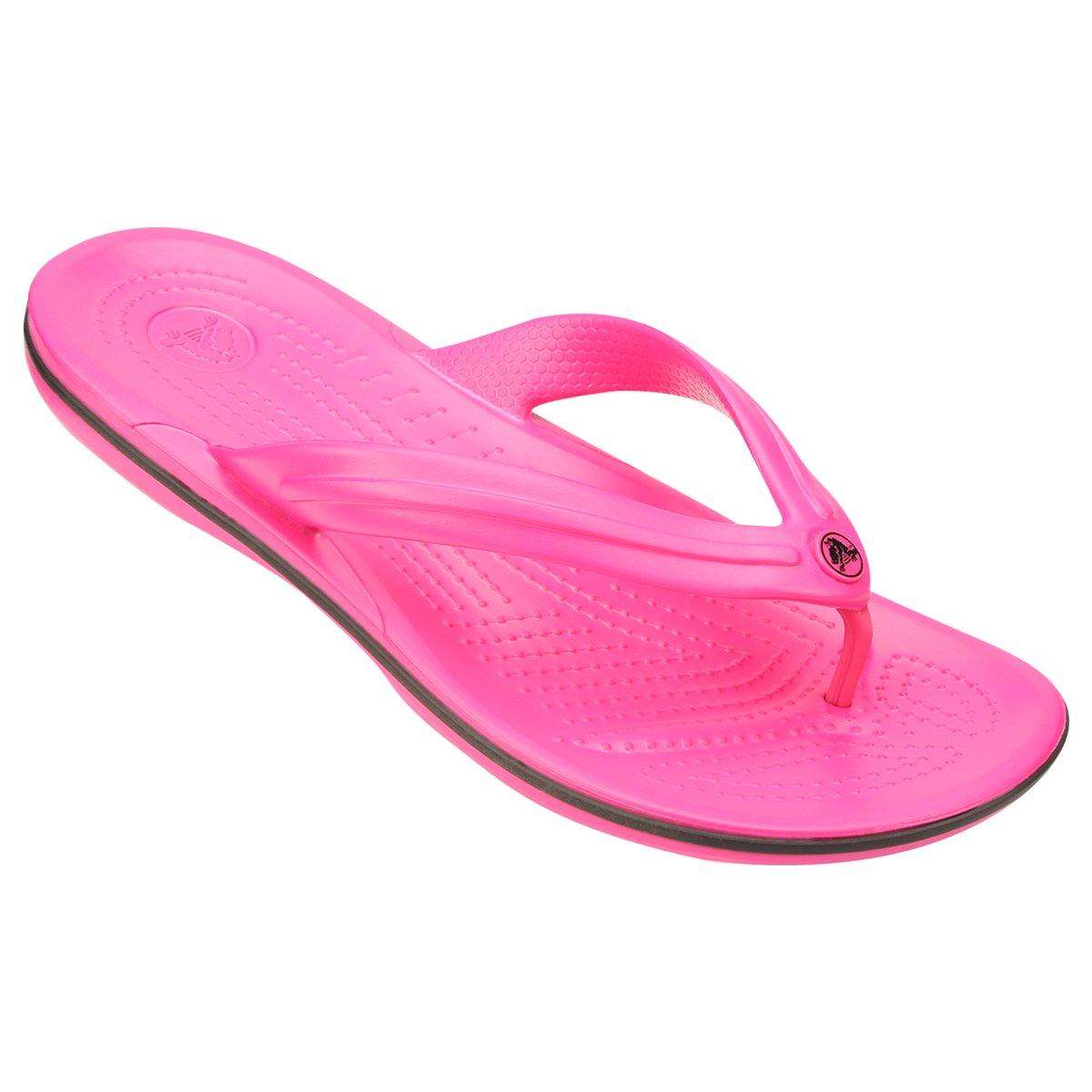 c29ffb4e1 Chinelo Crocs Crocband Flip - Pink e Preto - Compre Agora | Netshoes