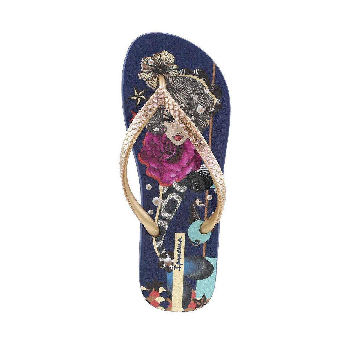 Chinelo Feminino Ipanema Fashion Seasons Azul - Compre Agora  239b30250c979