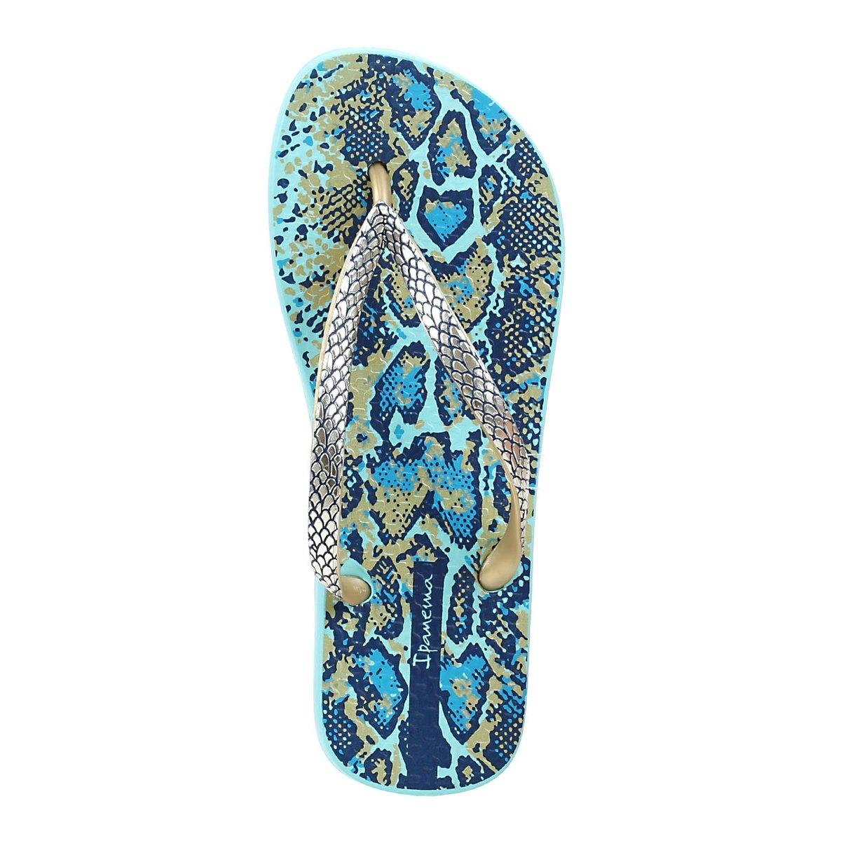 Chinelo Feminino Ipanema Fashion Skin Azul - Compre Agora  7b42ea29aa1ff