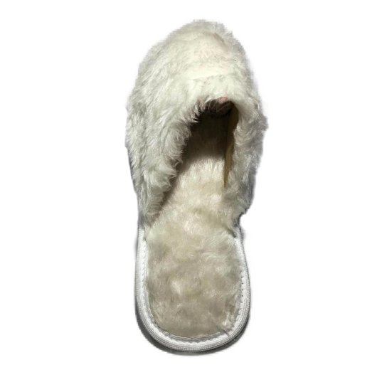 Chinelo Feminino Pantufa Macio Anti Derrapante Confortável - Branco