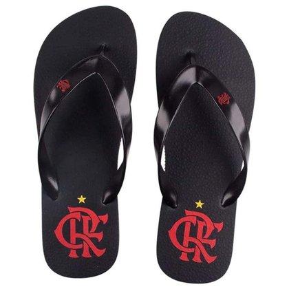 Chinelo Flamengo Basic Pós-Jogo Preto/Preto 37/38