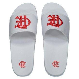 Chinelo Flamengo CRF Branco e Vermelho