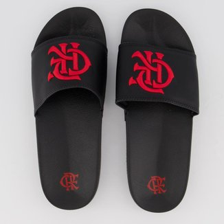Chinelo Flamengo Slide CRF Bold I Preto