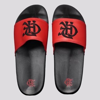 Chinelo Flamengo Slide CRF Bold Preto e Vermelho