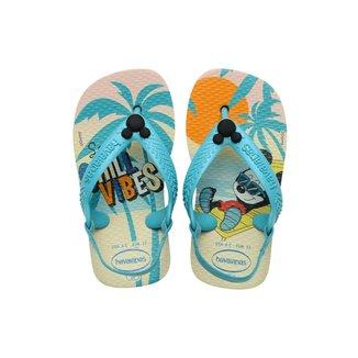 Chinelo Havaianas Baby Disney Classics Mickey - BEGE - 21