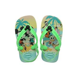 Chinelo Havaianas Baby Disney Classics Turma do Mickey - VERDE- 21
