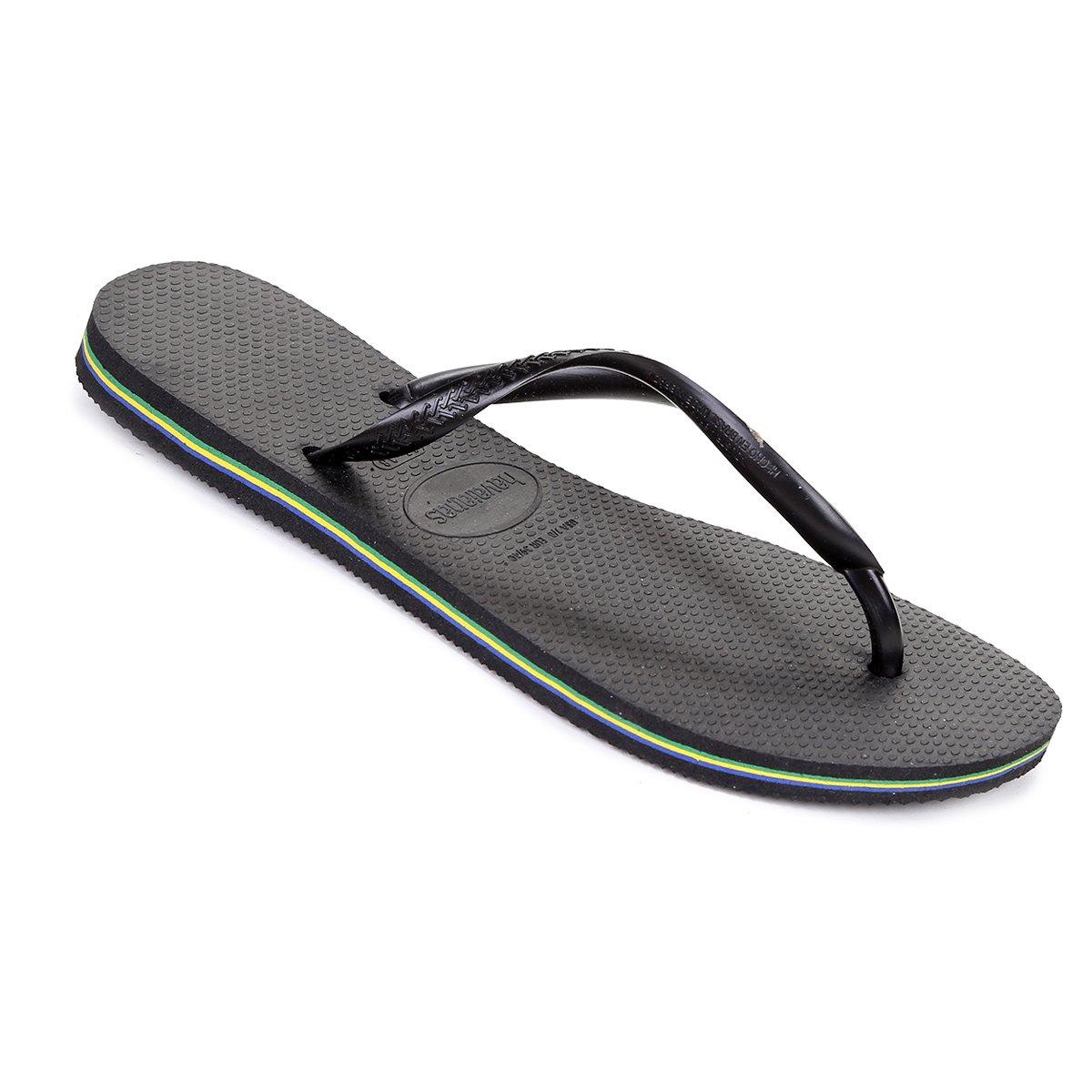 Chinelo Havaianas Slim Brasil Feminino - Preto - Compre Agora  15c39c1a350