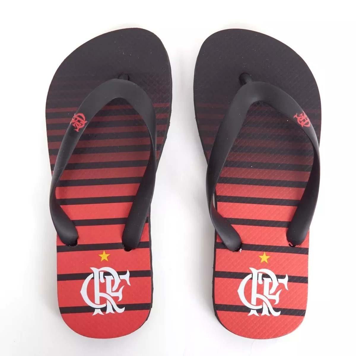 Vermelho Manto Flamengo Chinelo Preto Infantil 3 Gradiente e Listrado x7EqB8wF