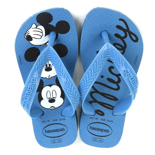 Chinelo Infantil Havaianas Top Disney Cf - Azul