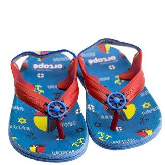 Chinelo Infantil Masculino Ortopé Aqua Flex PVC 2107124