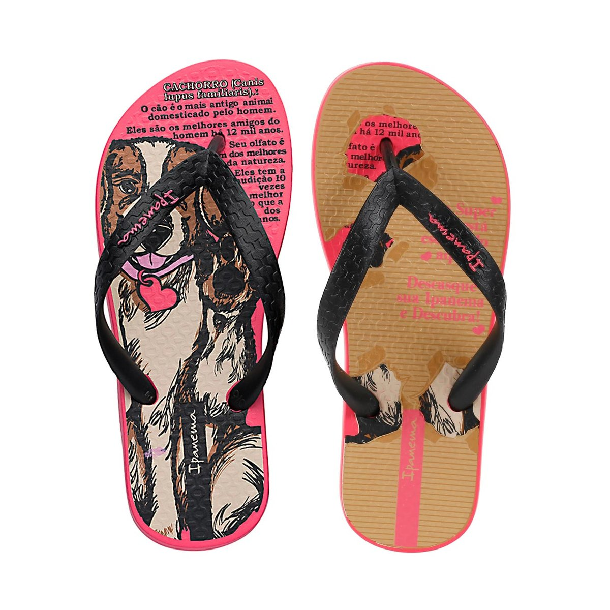 d2412ac4f5 Chinelo Infantil Para Menina Ipanema - Rosa pink preto - Compre Agora