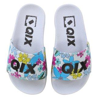 Chinelo Infantil Qix Slide Floral Feminino
