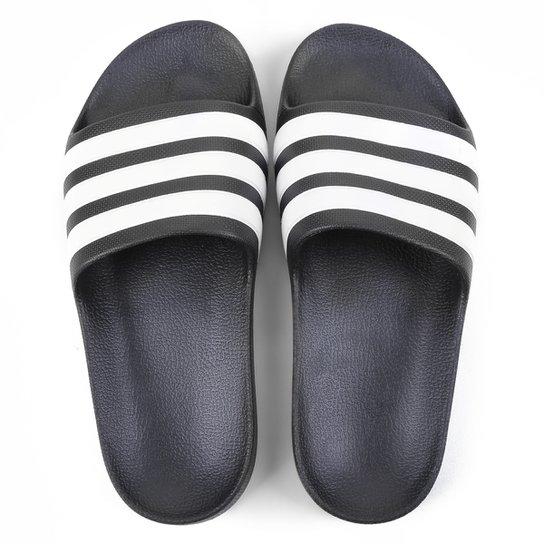 Chinelo Infantil Slide Adidas Adilette Aqua - Preto+Branco