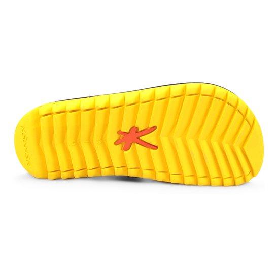 Chinelo Kenner Kivah Cushy Masculino - Preto+Amarelo